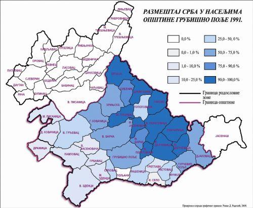 Razmestaj Srba u naseljima opstine Grubisno Polje 1991..jpg