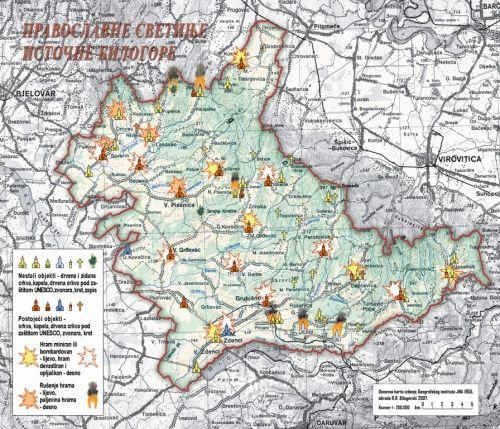 Сакрални објекти уништени и девастирани у два рата у источној Билогори